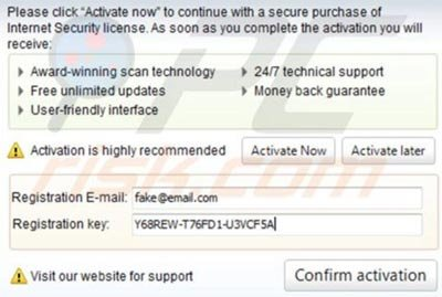 Antivirus Plus 2014 activation