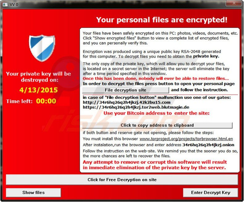 Alpha crypt -ransomware