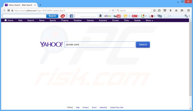 Search Yahoo Redirect