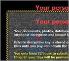 'Your personal files are encrypted'-virus